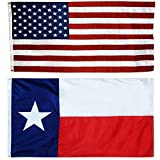 US Flag with Texas State Flag 3 x 5-100% American Made – Nylon Review