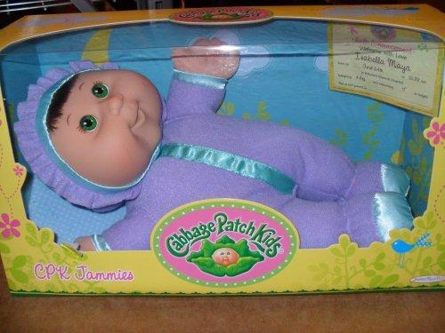 Cabbage Patch Kids CPK Jammies – Green Eyes, Brown Hair, Baby & Kids Zone