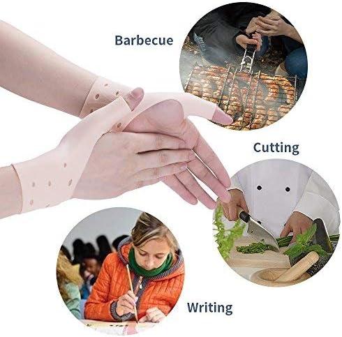 manches pour poignet en gel de silicone poignet orthop/édiques protecteur pour Soft Gel du canal carpien poignet Gants mains protecteurs pour les ordinateurs travailler et faire du sport