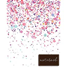 "Notebook: Pink Notebook , size 8"" x 10"" , Ruled Journal Pretty Design"