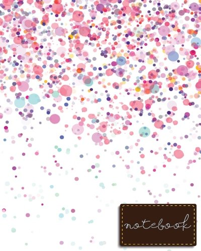 """Notebook: Pink Notebook , size 8"""" x 10"""" , Ruled Journal Pretty Design (Composition Notebook College Ruled) (Volume 3)"""