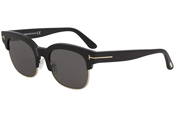Image Unavailable. Image not available for. Color  2018 Tom Ford Harry-02  FT0597 01D Men Black Polarized Clubmaster Square Sunglasses 1d927bad0d228