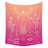 Society6 Santa Fe Garden – Pink Sunset Wall Tapestry Large: 88'' x 104''