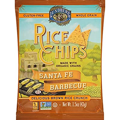 Lundberg Family Farms Rice Chips, Santa Fe Barbeque, 24 ct