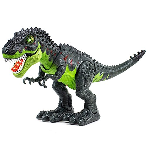 Toysery Tyrannosaurus T-Rex Walking Dinosaur with Lights & Realistic Sounds, Battery Operated Color May Vary.(Colors May Vary)