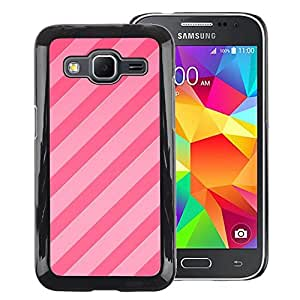 Red-Dwarf Colour Printing Candy Pink Lines Parallel Pattern Fuchsia - cáscara Funda Case Caso de plástico para Samsung Galaxy Core Prime SM-G360