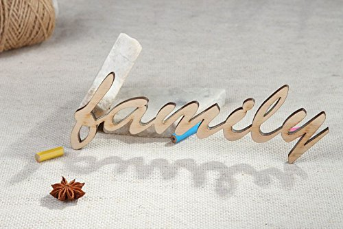 "Handmade Craft Shape Chipboard Word ""Family"" Art Supply"