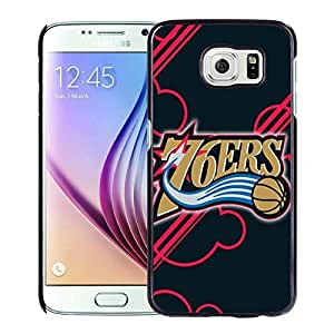 Popular And Unique Custom Designed Cover Case For Samsung Galaxy S6 With Philadelphia 76ers 12 Black Phone Case