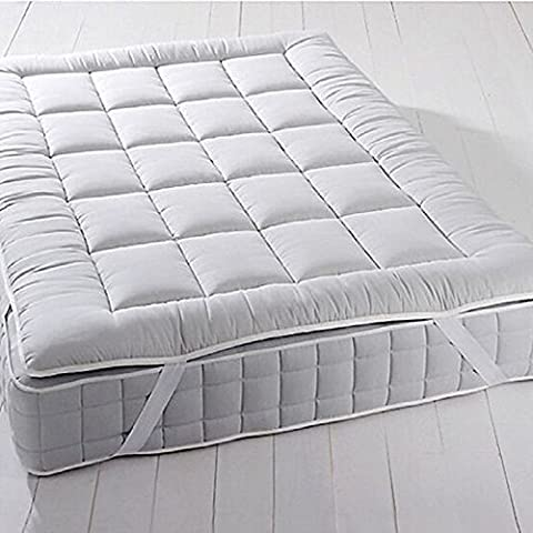 Royal Plush MATTRESS TOPPER, Twin, 2 Inches Hypoallergenic Overfilled Down Alternative Anchor Bands Mattress Topper
