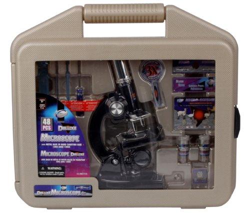 48 tlg Kinder Mikroskop Set im Koffer 100 600 1200 fach