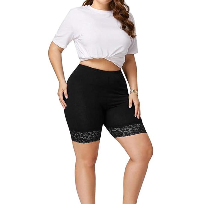 Amazon.com: Pjjgerly pantalones cortos de cintura alta para ...