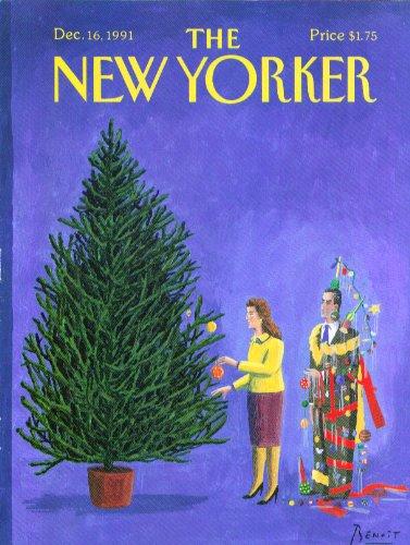 The Christmas Tree 1991.Amazon Com New Yorker Cover Benoit Decorating Christmas