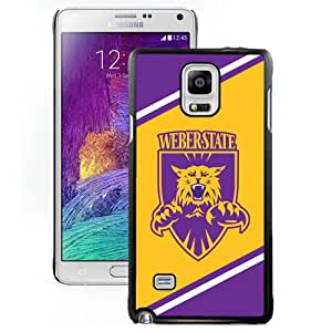 Fashion And Unique Samsung Galaxy Note 4 Cover Case NCAA Big Sky Conference Football Weber State Wildcats 4 Protective Cell Phone Hardshell Cover Case For Samsung Galaxy Note 4 N910A N910T N910P N910V N910R4 Black Phone Case