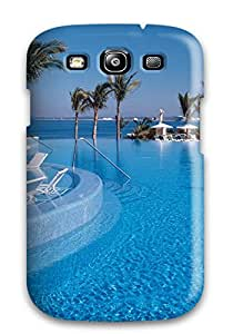 Snap-on Case Designed For Galaxy S3- Pool Sea Palm Tree