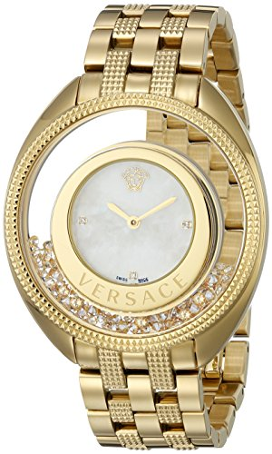 Versace Women's VQO070015 Destiny Precious Gold-Tone Stainless Steel  Watch