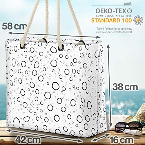 VOID vattendroppar glas strandväska Shopper 58 x 38 x 16 cm 23 L XXL shoppingväska väska resväska Beach Bag