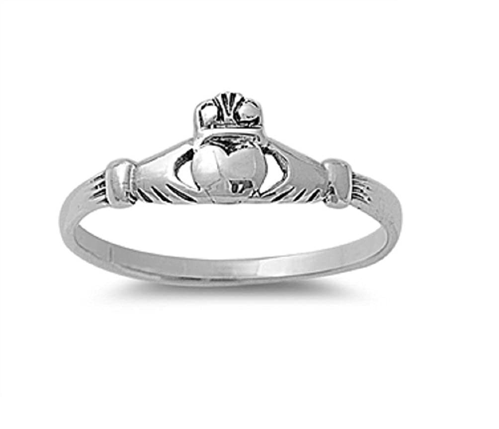 CloseoutWarehouse Claddagh Benedict Ring Sterling Silver 925