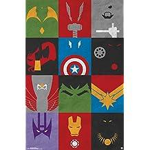"Trends International Avengers Minimalist Grid Wall Poster 22.375"" x 34"""