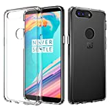 OnePlus 5T Clear Case, MoKo Slim Lightweight TPU Gel Bumper Shock-absorbing Rigid Transparent Back Cover Anti-scratch Protective Case for OnePlus 5T (2017) – Crystal Clear For Sale