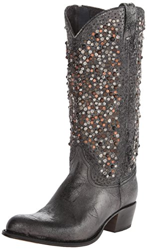 Boot Studded 77860 Frye Women's Deborah Anthracite Tall Western EqSPwX