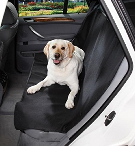 Pet Car Back Seat Cover Dog Cat Waterproof Protector Mat Black Midsize (Dog Car Mats)