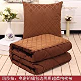 HOMEE Winter Thick Duvet Pillow Cushion with Two Cars on the Office of the Sofa Pillows, Air Conditioning by Small Blankets ,4545, Wave Point,Wooden cases,4040