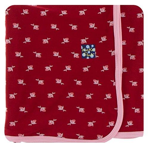 Kickee Pants Print Swaddling Blanket - Candy Apple Rose Bud