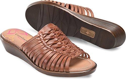 Comfortiva Womens Felida Open Toe Mules, Rust, Size 7.5