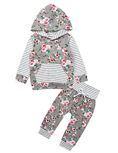 Gprince Newborn Baby Boy Girl Warm Hoodie T-shirt Top + Pants Outfits Set Kids - Map Springs Of Cool Mall