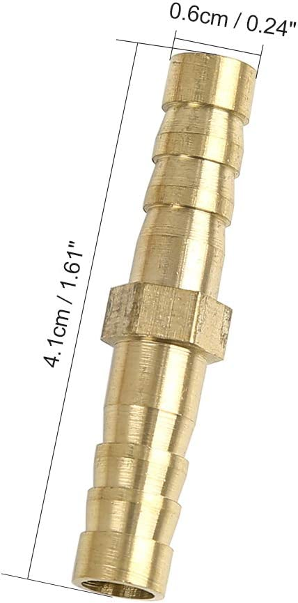 X AUTOHAUX 16mm Brass Barb Hose Fitting Straight Connector Adaptor for Air Water Gas Oil