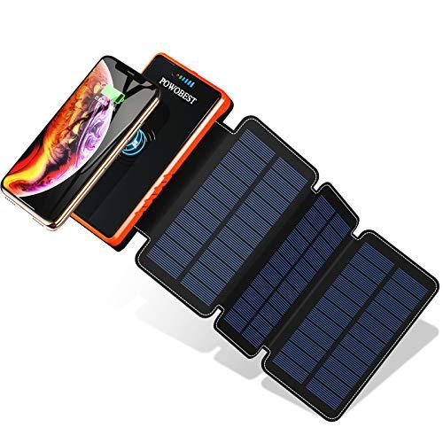 POWOBEST Solar Power Bank 20000mAh