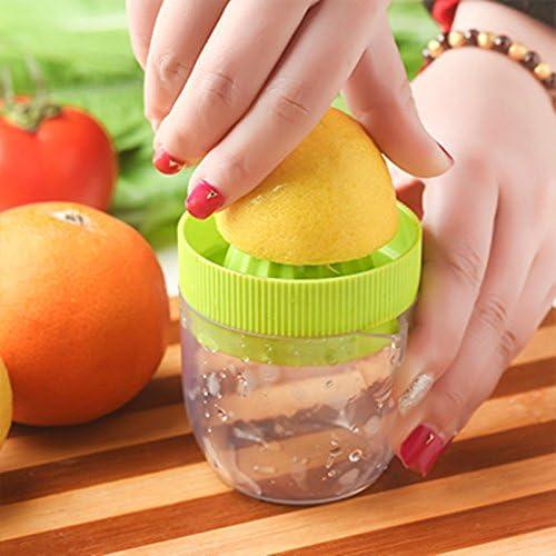 buzfi mano prensa jugo de limón exprimidor, exprimidor Manual exprimidor, jugo de cítricos de almacenamiento con boquilla antigoteo para: Amazon.es: Hogar