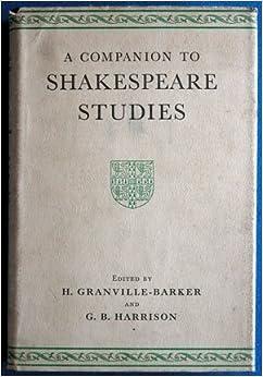 Book Companion to Shakespeare Studies