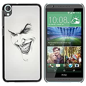 LOVE FOR HTC Desire 820 Joker Grin Face Personalized Design Custom DIY Case Cover