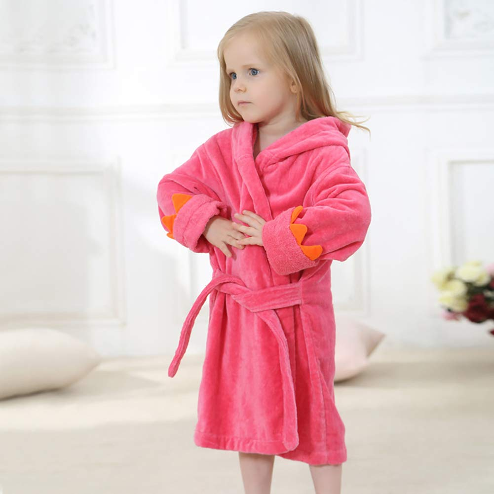 XXRBB Hooded Towel Baby Bath Kids Bathrobe,Cotton Soft Absorbent Thick Hypoallergenic Poncho,Boys Girls 3-6 Years Old,2,L:60CM by XXRBB