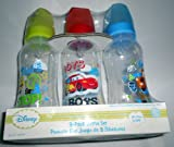 3 Pack Baby Bottles Disney Pixar Cars 2 BPA Free Med Flow Silicone Nipples Age 0 Mater Lightning Mcqueen and More., Baby & Kids Zone