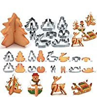 Yesido. Stainless Steel Cookie Cutters Sugar Biscuit Cutters Cake Chocolate S...