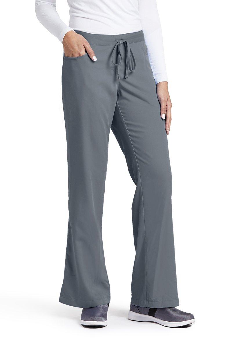 Grey's Anatomy Women's Junior-Fit Five-Pocket Drawstring Scrub Pant - X-Large Petite - Granite