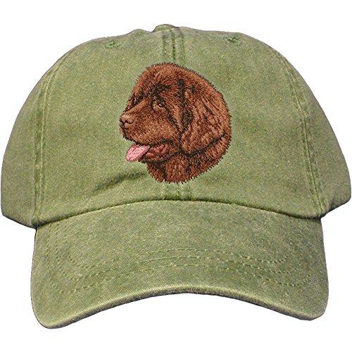 Cherrybrook Dog Breed Embroidered Adams Cotton Twill Caps - Spruce - Newfoundland