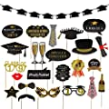 Graduation Party Supplies 2019 Classy And Luxurious Graduation Banner With 24pcs Graduation Phtoto Booth Props For Graduation Party Decorations