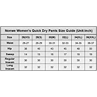 Nonwe Women's Water-resistant Lightweight Cargo Pants-sizing