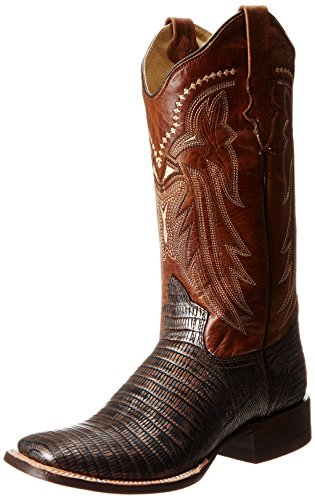 a Squares Western Boot,Copper/Brown,7.5 M US ()