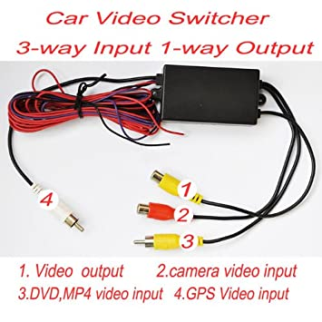 Amazon intelligent car video switcher 3 way input 1 way output amazon intelligent car video switcher 3 way input 1 way output for the car camera car electronics asfbconference2016 Choice Image