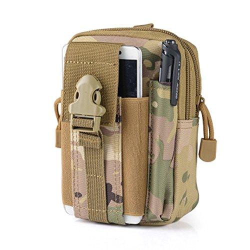 30 borse Molle Tactical-Cintura impermeabile per Sport all'aperto, da uomo, stile Casual, Marsupio portamonete per Iphone 6 Plus, per SAMSUNG Galaxy Note 2, 3, 4, 1000D nylon CORDURA da lavoro, vita-C