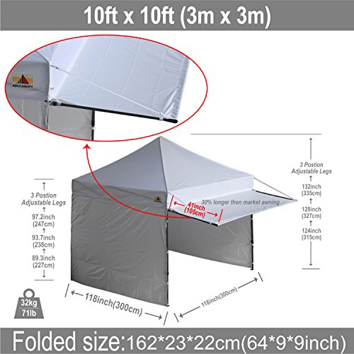 Amazon.com  (20+colors)10x10 AbcCanopy Easy Pop up Canopy Instant Shelter Commercial Portable Market Canopy with Matching Sidewalls Weight Bags ...  sc 1 st  Amazon.com & Amazon.com : (20+colors)10x10 AbcCanopy Easy Pop up Canopy Instant ...