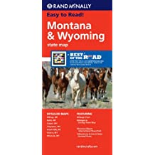 Rand McNally Easy to Read! Montana Wyoming State Map