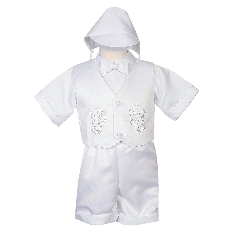 wholesale Rafael Collection Little Boys 4 pc Cross Dove Vest Hat Baptism Outfit 2-4