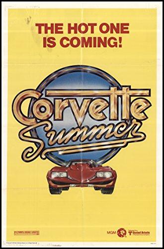 "Corvette Summer 1978 ORIGINAL MOVIE POSTER Adventure Comedy - Dimensions: 27"" x 41"""