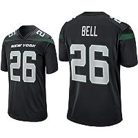 Thole Hombre NFL Camiseta Fútbol Jet Team 26# Bell Equipo Fútbol Training Jersey Uniformes
