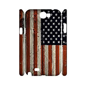 American Flag Unique Design 3D Cover Case for Samsung Galaxy Note 2 N7100,custom cover case ygtg-773397